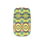 Yellow Circle Fractal Abstract Minx® Nail Wraps