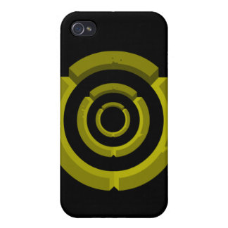 yellow circle iPhone 4/4S cases