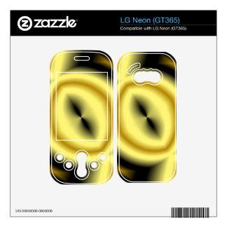 Yellow Circle Pattern Skin For LG Neon