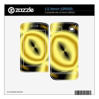 Yellow Circle Pattern Decals For LG Xenon