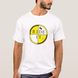Yellow Circle Quad Front T-Shirt