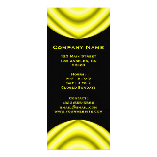 yellow circle rack card