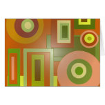 yellow circles and squares greeting cards