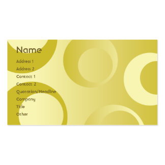 Yellow Circles - Business Double-Sided Standard Business Cards (Pack Of 100)