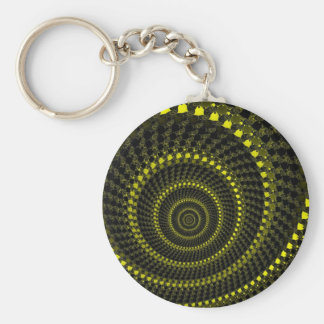 Yellow Circles Keychain
