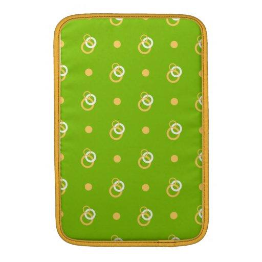 Yellow Circles n Green MacBook Air  Sleeve MacBook Sleeves