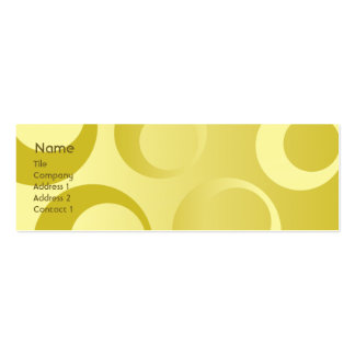 Yellow Circles - Skinny Business Card Template