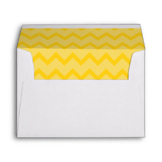 Yellow Circus Chevron Lined Envelopes