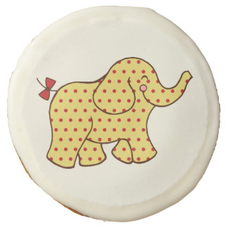 Yellow Circus Elephant Cookies