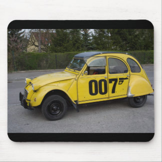 Yellow Citroën 2CV Mouse Pad