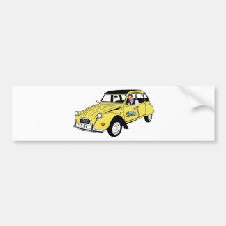 Yellow Citroen blog Bumper Sticker