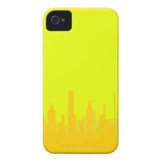 Yellow Cityscape iPhone 4 Case-Mate Case