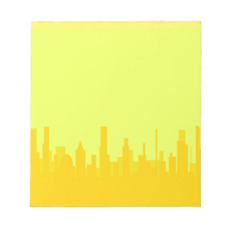 Yellow Cityscape Notepad