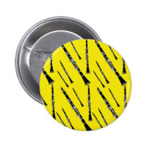 Yellow Clarinet Pattern Pinback Button