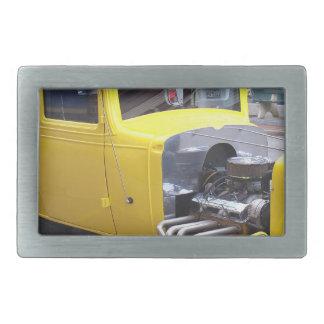 Yellow Classic Car Belt Buckle