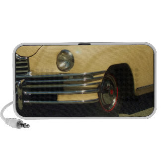 Yellow classic car doodle speaker