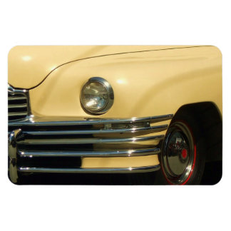Yellow classic car magnet