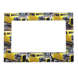 Yellow Classic Car Magnetic Frame
