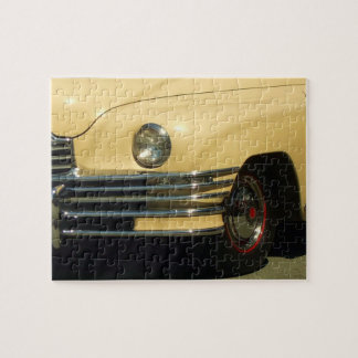 Yellow classic car jigsaw puzzles