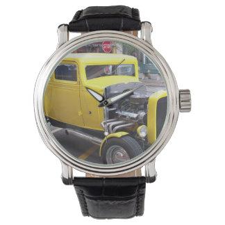 Yellow Classic Car Wristwatch