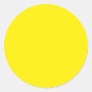 Yellow Classic Round Sticker