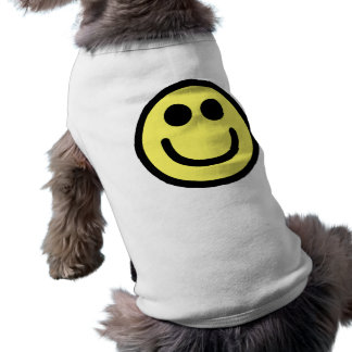 Yellow Classic Smiley Face Pet Tshirt