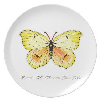 Yellow Cleopatra Butterfly Dinner Plate