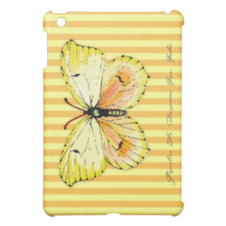 Yellow Cleopatra Butterfly with Stripes iPad Mini Cases