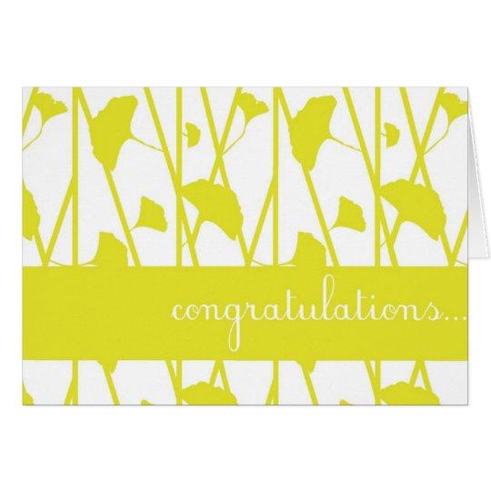 Yellow Climbing Lily Flower Congratulations Card