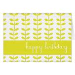 Yellow Climbing Plants Custom Happy Birthday Card
