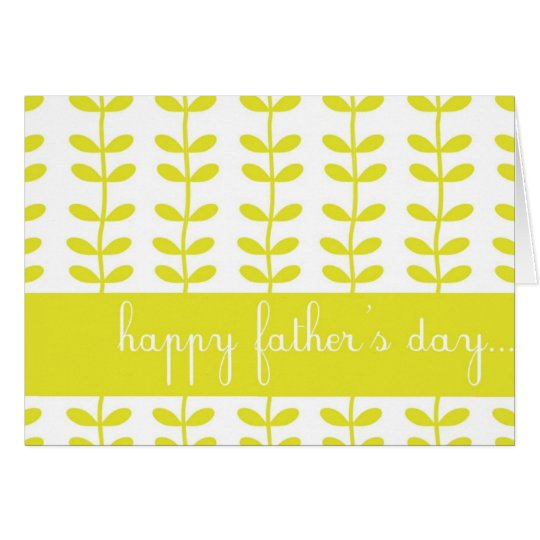 Yellow Climbing Plants Happy Father's Day Card