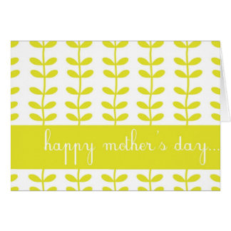 Yellow Climbing Plants Happy Mother's Day Card