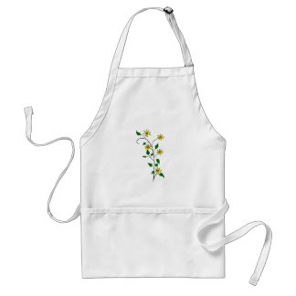 Yellow Clipart Flowers Adult Apron