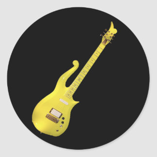 Yellow Cloud Guitar designed by The Artist... Classic Round Sticker