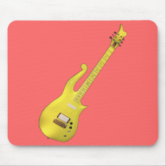 Yellow Cloud Guitar designed by The Artist... Mouse Pad