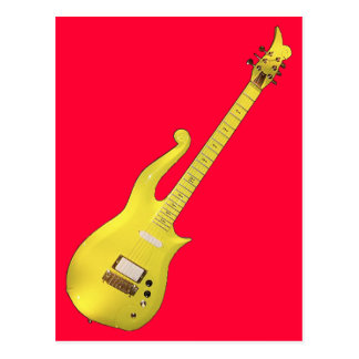 Yellow Cloud Guitar designed by The Artist... Postcard