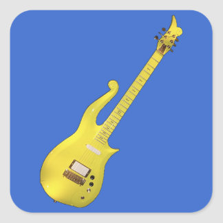 Yellow Cloud Guitar designed by The Artist... Square Sticker