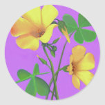 Yellow Clover Flower Sticker