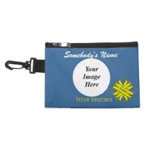 Yellow Clover Ribbon Accessory Bag