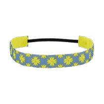 Yellow Clover Ribbon Athletic Headband
