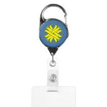 Yellow Clover Ribbon Badge Holder