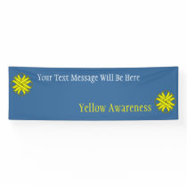 Yellow Clover Ribbon Banner