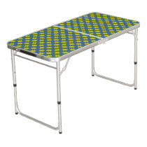 Yellow Clover Ribbon Beer Pong Table