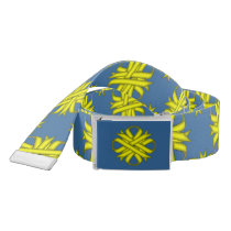 Yellow Clover Ribbon Belt
