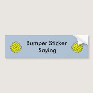Yellow Clover Ribbon Bumper Sticker