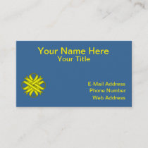 Yellow Clover Ribbon Business Card