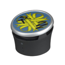 Yellow Clover Ribbon by Kenneth Yoncich Bluetooth Speaker