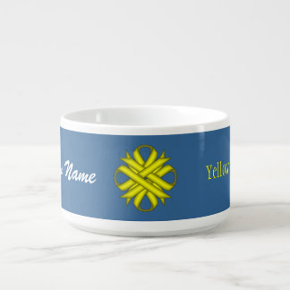 Yellow Clover Ribbon by Kenneth Yoncich Bowl