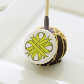 Yellow Clover Ribbon by Kenneth Yoncich Cake Pops