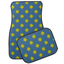 Yellow Clover Ribbon by Kenneth Yoncich Car Floor Mat